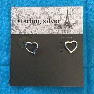 Jewelry - Sterling Silver Heart Earrings